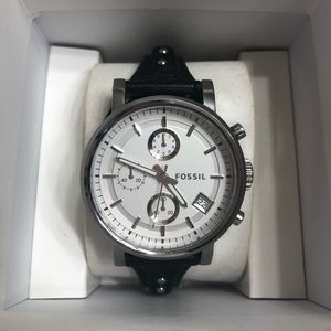 Fossil Chronograph Silver Watch